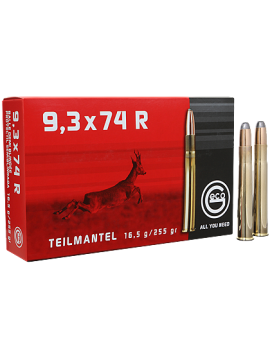 Munitions GECO 9,3x74R 16.5g 255grains TeilMantel