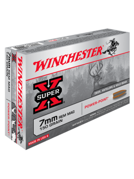 Winchester 7mm rem mag 150g Power-Point