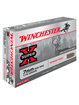 Winchester 7mm rem mag 175g Power-Point