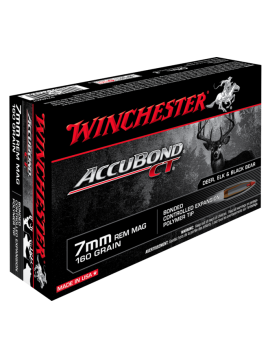 Winchester 7mm rem mag 160g Accubond CT