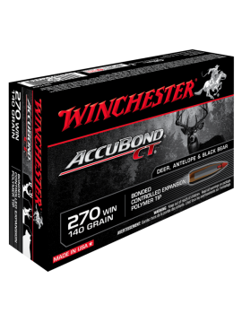 WINCHESTER 270win 140g accubond CT