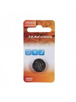 Piles CR2032 lithium Num'axes