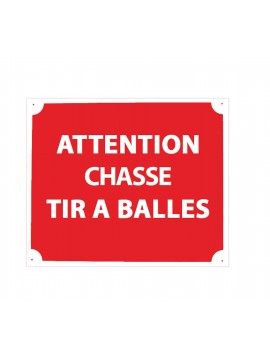 attention chasse tir à balle