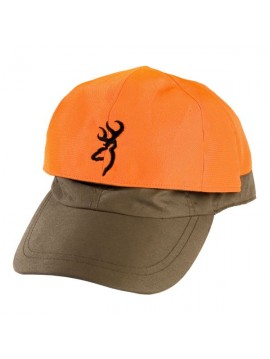 Casquette reversible orange et verte browning