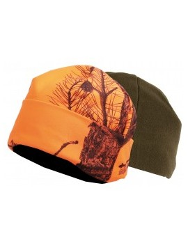 Bonnet polaire reversible orange vert somlys