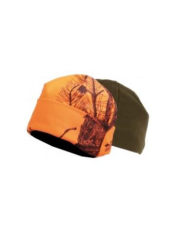 Bonnet polaire reversible orange vert somlys