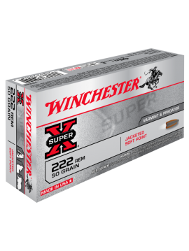 WINCHESTER 222 REM 50grains Jacketed Soft Point