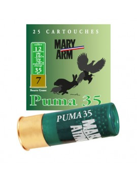 Cartouches puma 35 mary arm Calibre 12/70 35grs bourre grasse