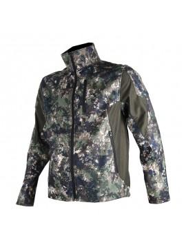 Blouson softshell camouflage pixel vert SOMLYS