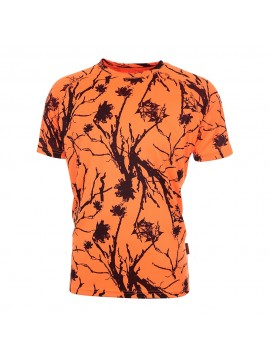 T-Shirt camo orange bartavel