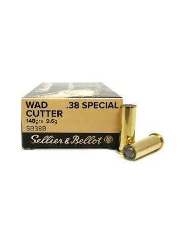 SELLIER BELLOT 38SP 148grs 9.6g wad cutter