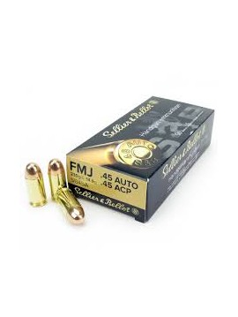 SELLIER BELLOT 45ACP 230grs 14.9g FMJ