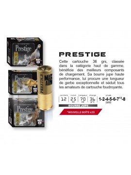 Cartouches prestige Mary Arm Calibre 12