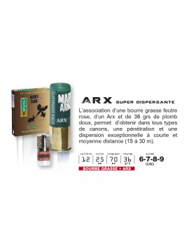 Cartouches ARX super dispersante Mary Arm Calibre 12/70