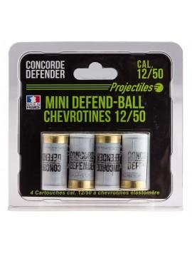 Lot de 4 cartouches CONCORDE DEFENDER 12/50 CHEVROTINES