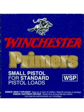Amorçes WINCHESTER PRIMER PISTOL SMALL REGULAR 1-1/2