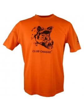 CLUB CHASSE TEESHIRT ORANGE SANGLIER
