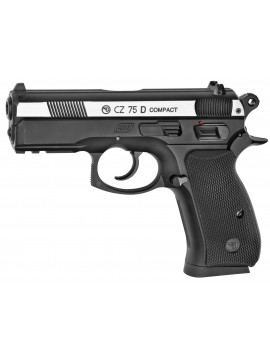 PISTOLET CO2 CZ 75D COMPACT BICOLORE BB'S CAL. 4,5 MM