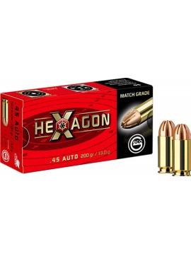 Munitions GECO 45 ACP 200grs 13.0g HEXAGON