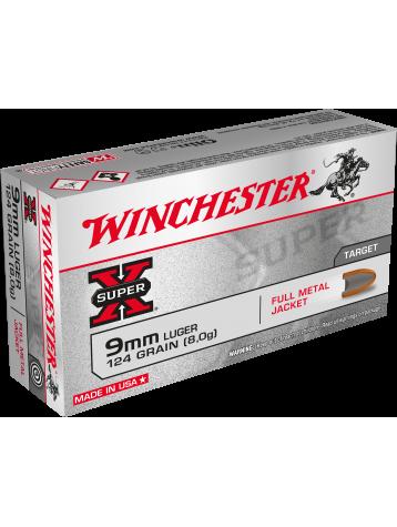 WINCHESTER 9X19MM FMJ 124GR 8G