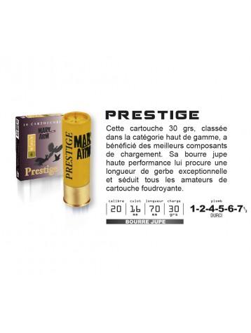 Cartouches PRESTIGE MARY ARM Calibre 20 /70 30grs
