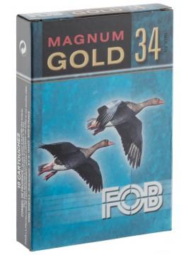 Cartouches FOB GOLD Magnum Cal. 20-76, culot de 16, 34 gr, N°7 doré