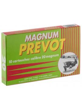 Cartouches  PREVOT 20 / 76 Magnum 20 bourre jupe