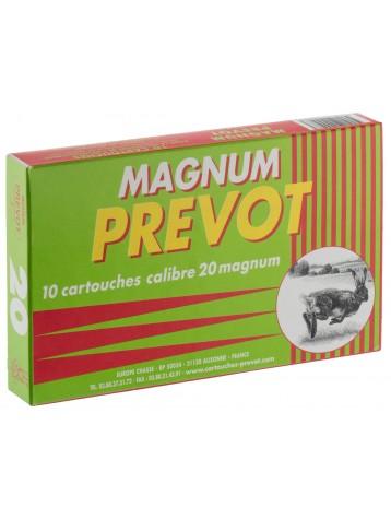 Cartouches  PREVOT 20 / 76 Magnum 20 bourre GRASSE