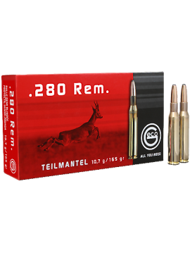 Munitions GECO 280RERM  10.7G 165G DEMI BLINDE