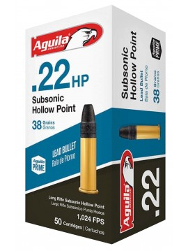 CARTOUCHES 22 LR AGUILA SUBSONIC