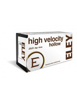 CARTOUCHES ELEY HIGH VELOCITY HOLLOW POINT CAL. 22 LR X50