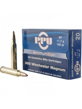 munitions PRVI PARTIZAN 300 Win Mag 180grains 11.7g Soft Point