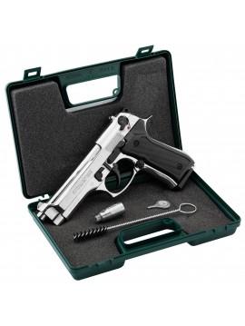 Pistolet 9 mm PAK à blanc Chiappa 92 nickelé