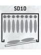 Armoire Forte Gamme SENTINEL 8 +2 armes + coffre interieur
